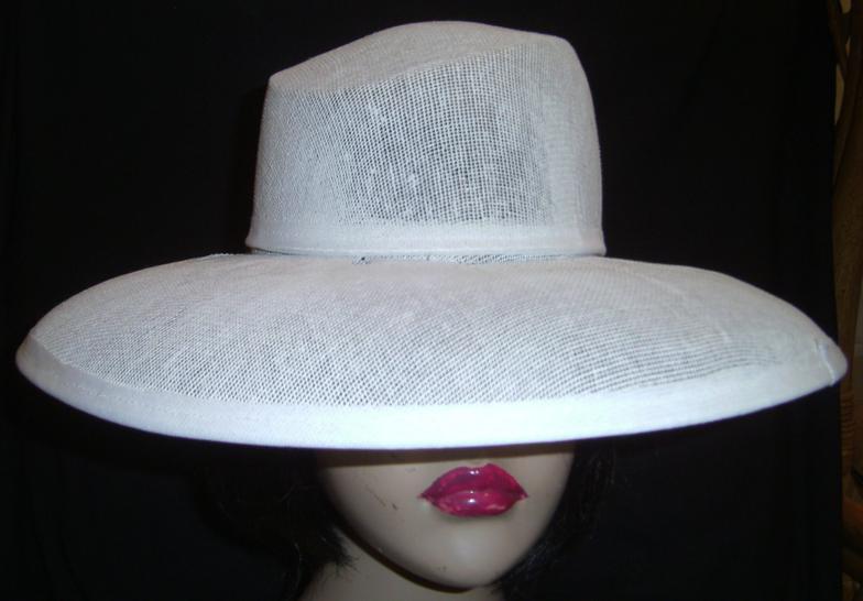 Buckram hat frames, 2piece-crown-brim-combination