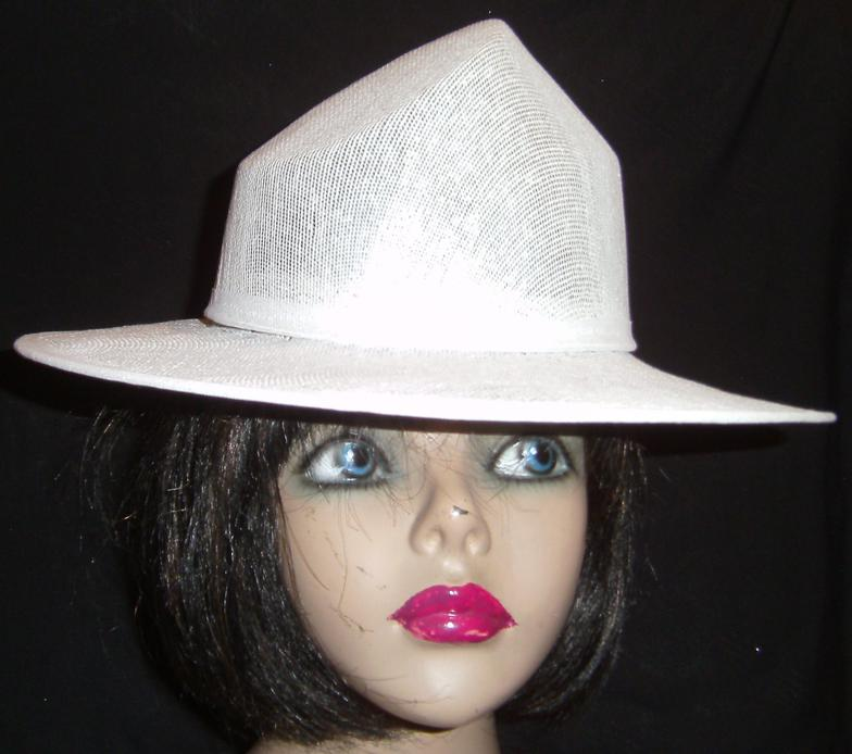 Buckram hat frames, 2piece-crown-brim-combination